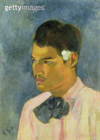 <b>Title</b> : Young Man with a Flower Behind his Ear, 1891 (oil on canvas)<br><b>Medium</b> : oil on canvas<br><b>Location</b> : Private Collection<br> - gettyimageskorea