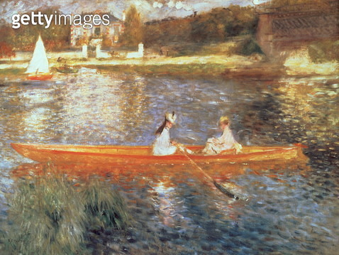 Boating on the Seine, c.1879 (oil on canvas) - gettyimageskorea
