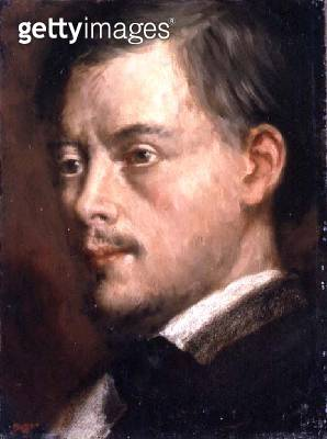 <b>Title</b> : Head of a Man, c.1864 (oil on canvas laid down on board)<br><b>Medium</b> : oil on canvas laid down on board<br><b>Location</b> : Private Collection<br> - gettyimageskorea