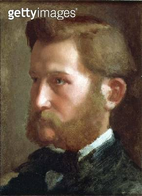 <b>Title</b> : Portrait of Paul Valpincon, c.1868-72 (oil on paper laid down on canvas)<br><b>Medium</b> : oil on paper laid down on canvas<br><b>Location</b> : Private Collection<br> - gettyimageskorea