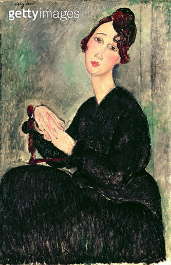 <b>Title</b> : Portrait of a Young Woman (The Concierge) c.1916 (oil on canvas)<br><b>Medium</b> : oil on canvas<br><b>Location</b> : Private Collection<br> - gettyimageskorea