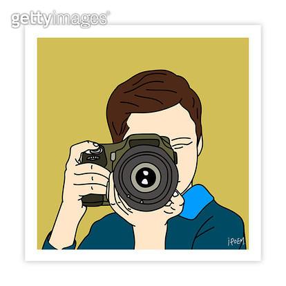 촬영하는 남자아이 앞모습 - gettyimageskorea