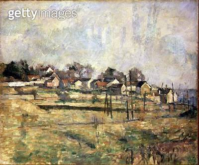 <b>Title</b> : Landscape, c.1873-77 (oil on canvas)<br><b>Medium</b> : oil on canvas<br><b>Location</b> : Private Collection<br> - gettyimageskorea