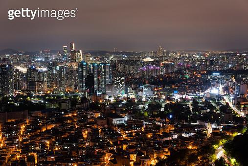 서울 야경, 대한민국 서울특별시 - gettyimageskorea