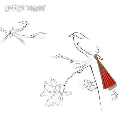 나무에서 쉬는 새 그림 - gettyimageskorea