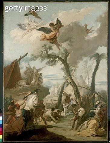<b>Title</b> : The Gathering of the Manna (oil on canvas)<br><b>Medium</b> : oil on canvas<br><b>Location</b> : Ashmolean Museum, University of Oxford, UK<br> - gettyimageskorea