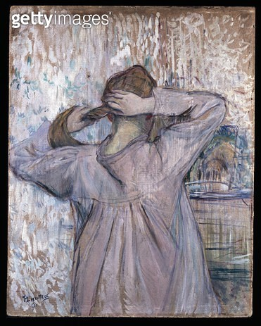 <b>Title</b> : La Toilette, 1891 (oil on paper on card)<br><b>Medium</b> : oil on paper over card<br><b>Location</b> : Ashmolean Museum, University of Oxford, UK<br> - gettyimageskorea