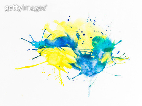 Smudged Paint On White Background - gettyimageskorea