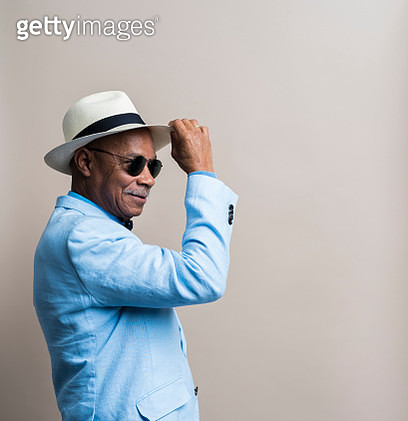 Studio portrait of a stylish senior man - gettyimageskorea