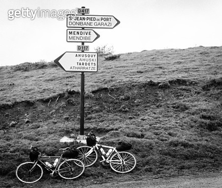 bikes on the Col d'Ahusquy - gettyimageskorea