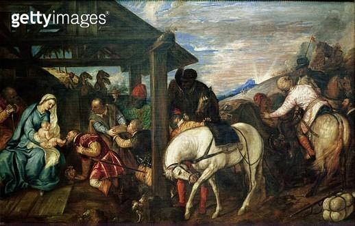 <b>Title</b> : The Adoration of the Magi, c.1561 (oil on canvas)<br><b>Medium</b> : oil on canvas<br><b>Location</b> : Prado, Madrid, Spain<br> - gettyimageskorea