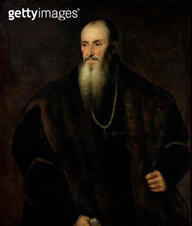 <b>Title</b> : Portrait of Nicolas Perrenot de Granvelle, 1548 (oil on canvas)<br><b>Medium</b> : oil on canvas<br><b>Location</b> : Musee du Temps, Besancon, France<br> - gettyimageskorea