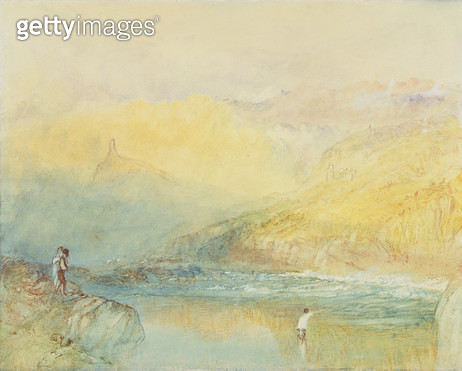 <b>Title</b> : On the Mosell, near Traben Trarabach, c.1841 (w/c & graphite on paper)<br><b>Medium</b> : watercolour and graphite on paper<br><b>Location</b> : Yale Center for British Art, Paul Mellon Collection, USA<br> - gettyimageskorea