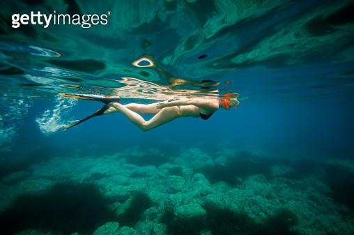 Swimming near les Calanques de Piana - gettyimageskorea