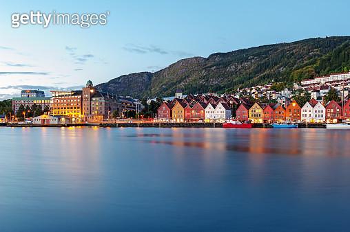 Morning at Bergen, Norway. - gettyimageskorea