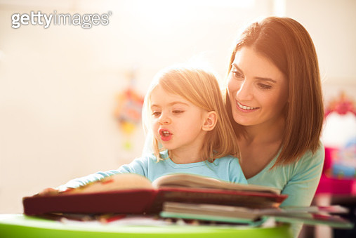 Mother and little daughter - gettyimageskorea