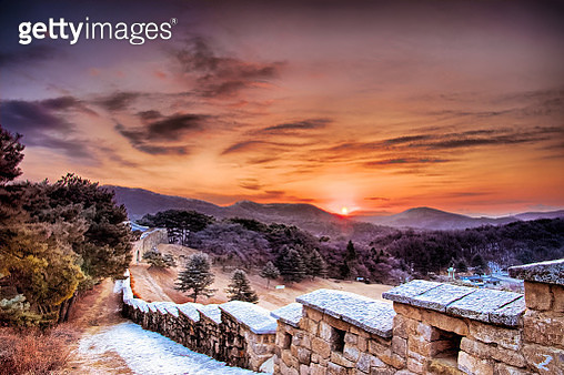 VD702 The sunrise of Cheongju Mt. Sangdang - gettyimageskorea