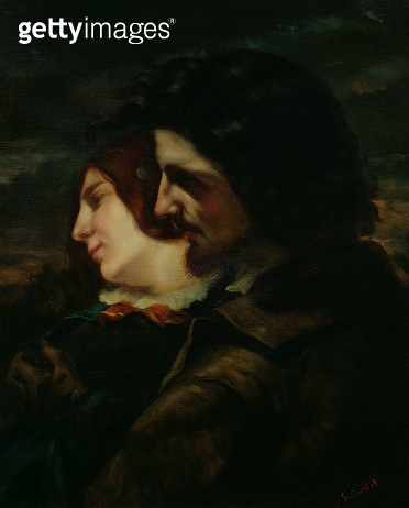 <b>Title</b> : The Lovers in the Countryside, after 1844 (oil on canvas)<br><b>Medium</b> : oil on canvas<br><b>Location</b> : Musee de la Ville de Paris, Musee du Petit-Palais, France<br> - gettyimageskorea