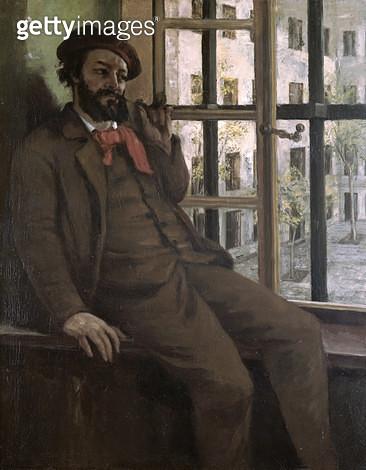 <b>Title</b> : Self Portrait at Sainte-Pelagie, 1871 (oil on canvas)<br><b>Medium</b> : oil on canvas<br><b>Location</b> : Musee-Maison Natale Gustave Courbet, Ornans, France<br> - gettyimageskorea
