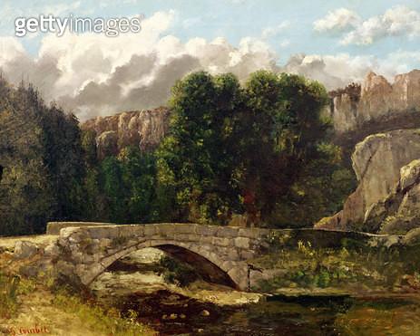 <b>Title</b> : The Pont de Fleurie, Switzerland, 1873 (oil on canvas)<br><b>Medium</b> : oil on canvas<br><b>Location</b> : Musee des Beaux-Arts et d'Archeologie, Besancon, France<br> - gettyimageskorea