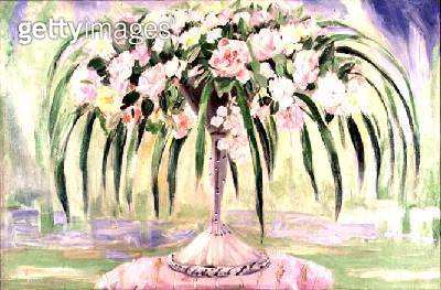 Roses in an Art Nouveau Vase (oil on canvas) - gettyimageskorea