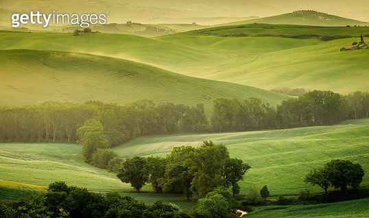 Typical landscape from Tuscany with green hills - gettyimageskorea