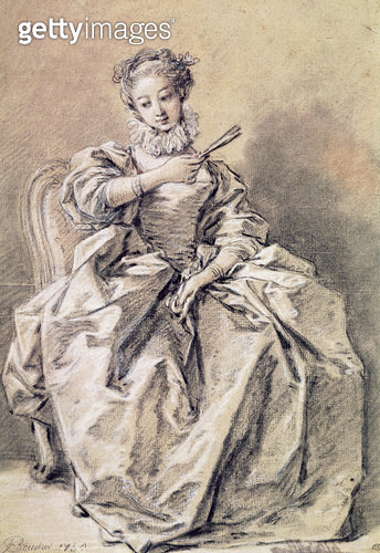 <b>Title</b> : Woman in Spanish Costume (charcoal & white chalk on paper)<br><b>Medium</b> : charcoal and white chalk on paper<br><b>Location</b> : Louvre, Paris, France<br> - gettyimageskorea
