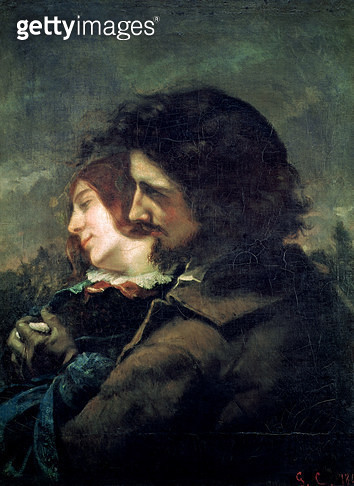 <b>Title</b> : The Happy Lovers, 1844 (oil on canvas)<br><b>Medium</b> : oil on canvas<br><b>Location</b> : Musee des Beaux-Arts, Lyon, France<br> - gettyimageskorea