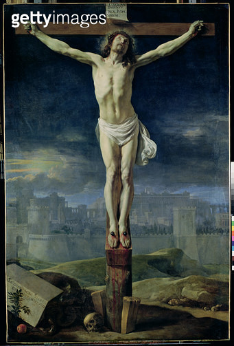 <b>Title</b> : Christ on the Cross, before 1650 (oil on canvas)<br><b>Medium</b> : oil on canvas<br><b>Location</b> : Louvre, Paris, France<br> - gettyimageskorea