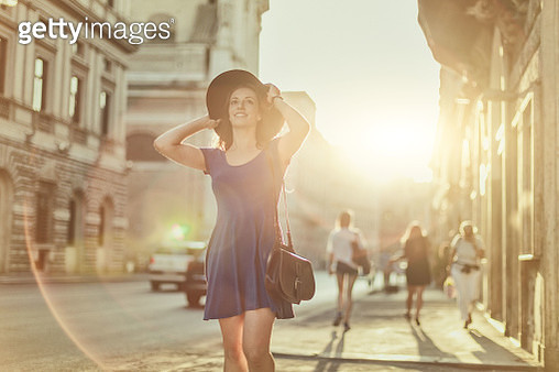 Lone tourist woman in Rome - gettyimageskorea