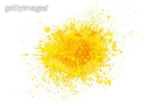Yellow paint splash - gettyimageskorea