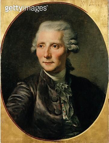 <b>Title</b> : Portrait of Pierre Augustin Caron de Beaumarchais (1732-99) after a painting by Jean Baptiste Greuze (oil on canvas)<br><b>Medium</b> : oil on canvas<br><b>Location</b> : Chateau de Versailles, France<br> - gettyimageskorea