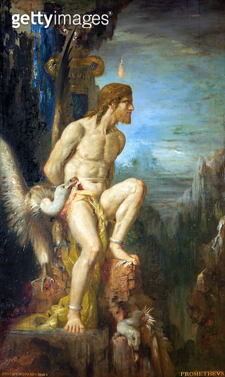 <b>Title</b> : Prometheus, 1868 (oil on canvas)<br><b>Medium</b> : oil on canvas<br><b>Location</b> : Musee Gustave Moreau, Paris, France<br> - gettyimageskorea