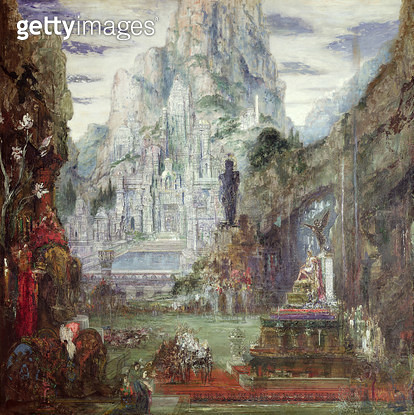 <b>Title</b> : The Triumph of Alexander the Great (356-323BC) (oil on canvas)<br><b>Medium</b> : oil on canvas<br><b>Location</b> : Musee Gustave Moreau, Paris, France<br> - gettyimageskorea