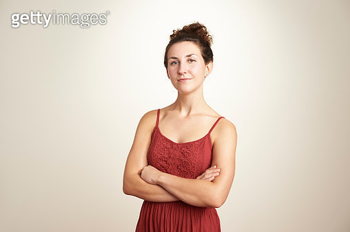 Portrait of confident young woman - gettyimageskorea