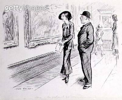 <b>Title</b> : The National Gallery; What I feel about these sort o' pictures - well - when you've seen em you've seen em (pen and ink on paper<br><b>Medium</b> : pen and ink on paper<br><b>Location</b> : Private Collection<br> - gettyimageskorea