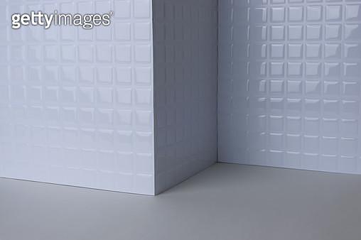 흰색 타일 배경 - gettyimageskorea