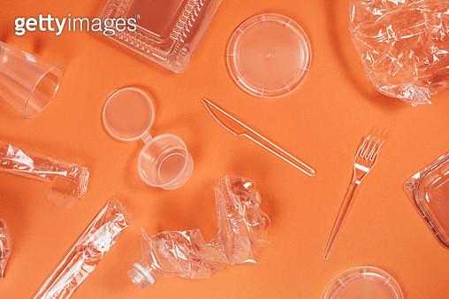Set of transparent plastic trash - gettyimageskorea