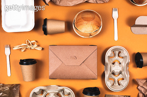 Various eco friendly packaging composition - gettyimageskorea