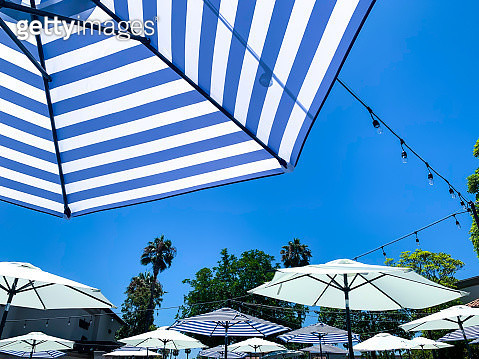 Outdoor umbrellas for dining - gettyimageskorea