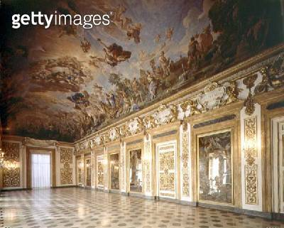 View of the loggia with ceiling fresco depicting the Apotheosis of the Second Medici Dynasty/ 1670-88 (photo) - gettyimageskorea