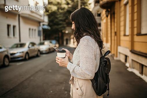 Woman drinking coffee - gettyimageskorea