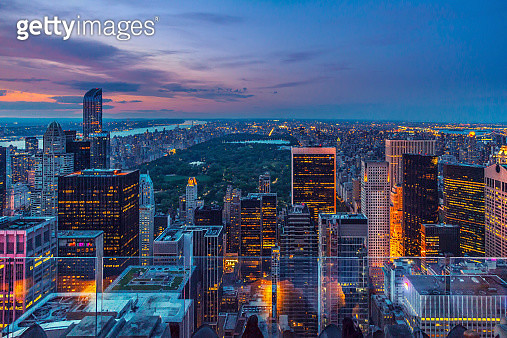 Manhattan from the top - gettyimageskorea