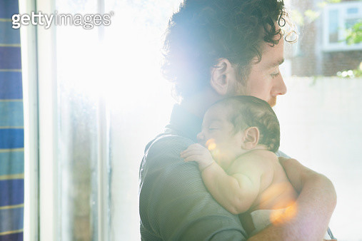 father holding baby - gettyimageskorea