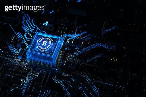 bitcoin chip,3d render - gettyimageskorea