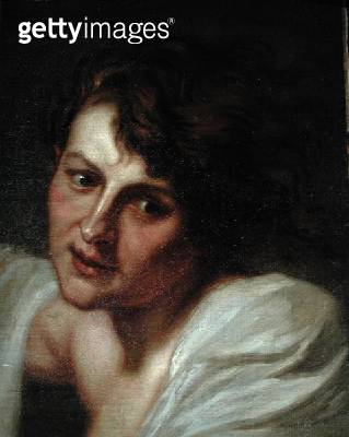 <b>Title</b> : Portrait of an Angel, after Sir Anthony van Dyck (1599-1641) (oil on canvas)<br><b>Medium</b> : oil on canvas<br><b>Location</b> : Private Collection<br> - gettyimageskorea