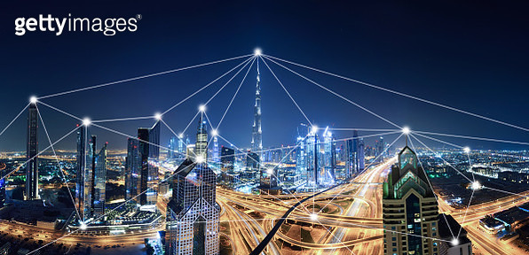 The network of city in Dubai,UAE - gettyimageskorea