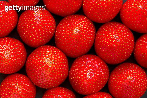 Full frame shot of strawberries - gettyimageskorea
