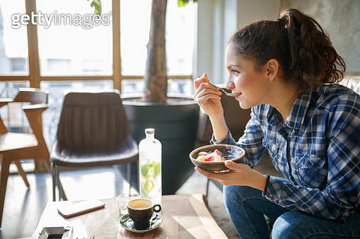 Cereals with yogurth for breakfast - gettyimageskorea