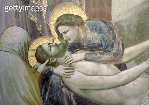 The Lamentation/ detail of the Madonna and Christ/ c.1305 (fresco) (detail of 56296) - gettyimageskorea
